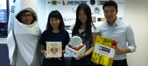 Group photo with the winners of HHLS contest